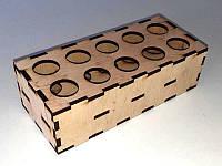(ЗАГОТОВКА) Подставка для пробирок (ШВГ 165х50х70) фанера 4мм., фото 1