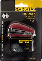 """Степлер """"Scholz"""" №10 8арк №4035 черв.,міні +1000 скоб(24)"""