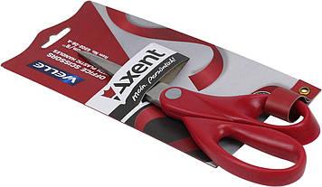 """Ножиці офісн. """"Axent"""" №6202-06 20см Welle пласт.ручки червоні(10)(100)"""