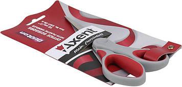 """Ножиці офісн. """"Axent"""" №6301-06 18см Duoton сір.-червоні(10)(200)"""
