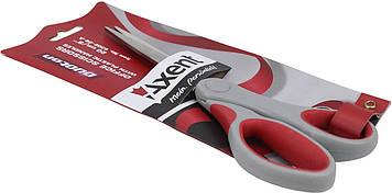 """Ножиці офісн. """"Axent"""" №6302-06 20см Duoton сір.-червоні(10)(100)"""