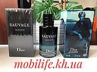 Мужская туалетная вода Christian Dior Sauvage 100ml(Кристиан Диор Саваж)Высокое Качество/