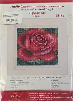 """Набір для вишивання муліне ДМС """"Троянда"""" №М-0084"""