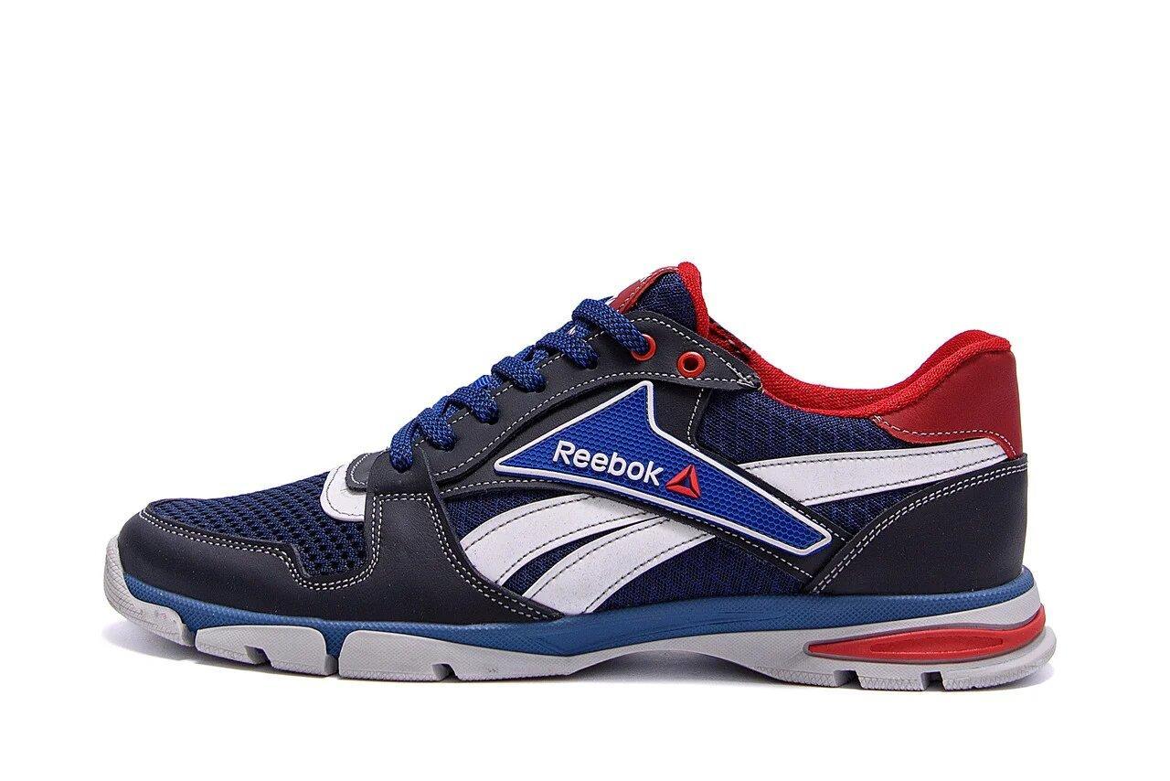 Чоловічі кросівки літні сітка Reebok Street Style Blue р. 41