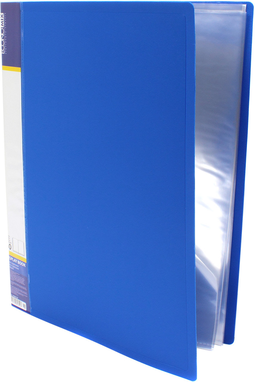 """Папка """"Economix"""" №E30604-02 A4 з 40ф. синя(4)(24)"""