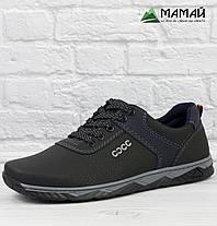 Чоловічі кросівки чорні з прошитою підошвою 40р, фото 2