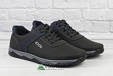 Чоловічі кросівки чорні з прошитою підошвою 40р, фото 3
