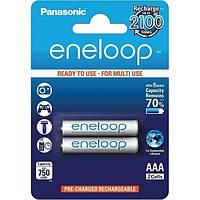 Аккумуляторы AAA, 750 mAh, Panasonic Eneloop, 2 шт, 1.2V, Blister, ресурс - 2100 циклов заряда! (BK-4MCCE/2BE)