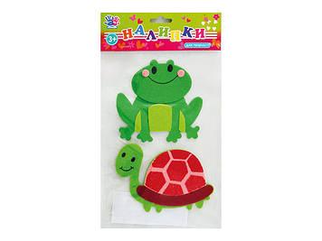 """Наклейка для творчість. """"1В"""" №951231 Черепаха та жаба повсть"""