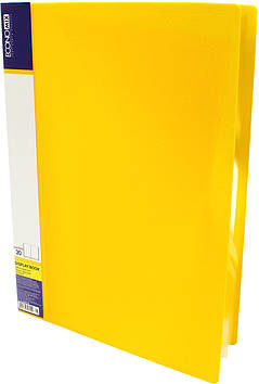 """Папка Economix"""" №E30602-05 A4 з 20ф. жовта(24)"""