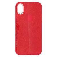 Чехол силиконовый Remax Glitter для Apple iPhone X / XS красный | Чехол блестящий для Apple iPhone X / XS