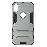 Чехол пластиковый Honor Hard Space для Apple iPhone X / XS серый | Противоударный чехол для iPhone X / XS