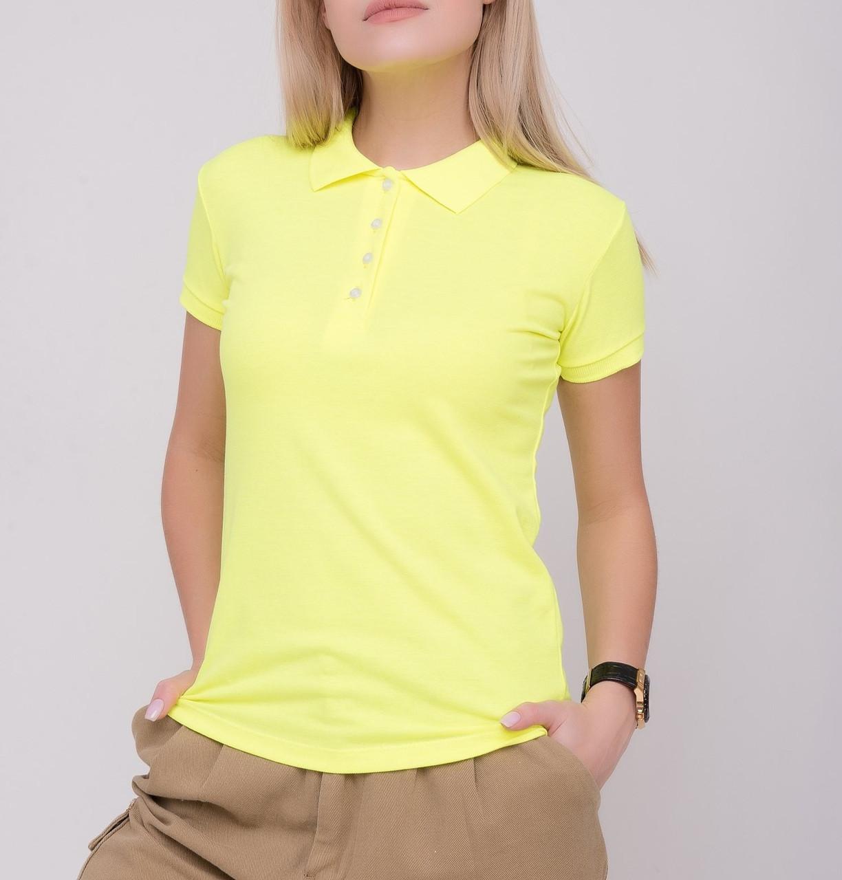 Женская футболка Поло 42-48 размера