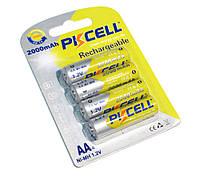 Аккумуляторы AA, 2000 mAh, PKCELL, 4 шт, 1.2V,  Already Charged, Blister (544995)
