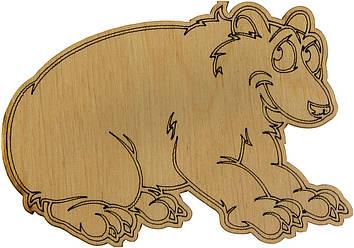 Ведмідь грізлі 7х9см фанера(5)
