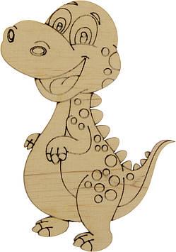 Динозавр-2 10х7см фанера асорті(5)