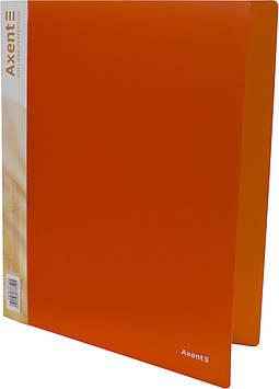 "Папка Axent"" №1207-25-А A4 на 2кільця d-25мм (помаранчева)(1)(10)"