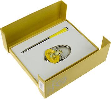 "Набір подар. ""Langres"" №122027-08 Fairy Tale: ручка кульк.+гачок для сумки жовтий"
