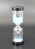Песочные часы Круглые 30 минут. Голубой песок
