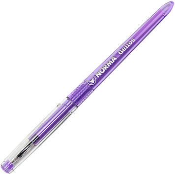 """Ручка гел. """"Norma"""" №342 Gelios 0,5мм фіолетова(12)(288)"""