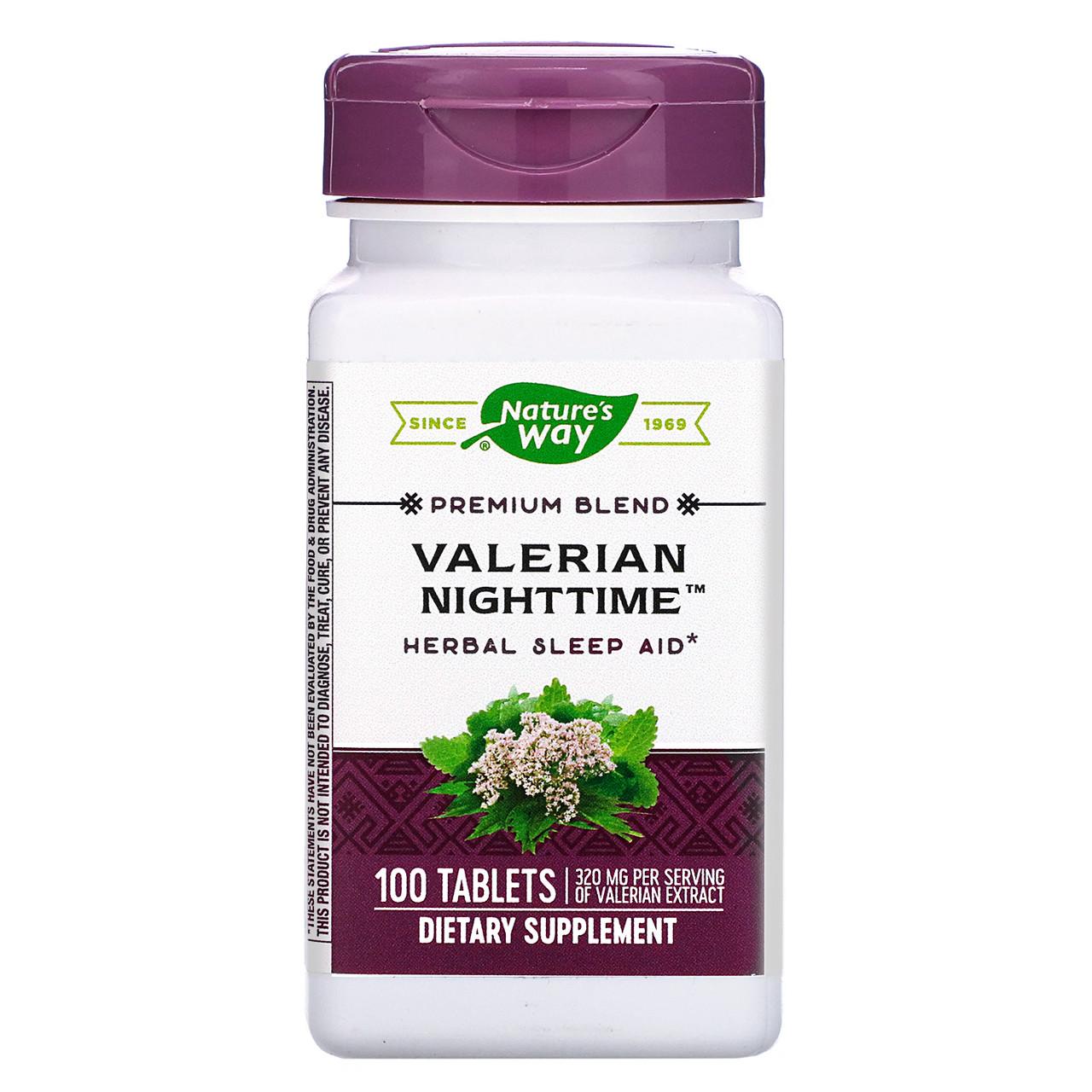 "Валериана от бессонницы Nature's Way ""Valerian Nighttime"" 320 мг (100 таблеток)"