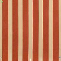 Уличная декоративная ткань полоса красного и бежевого цвета