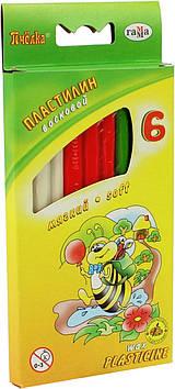 """Пластилін воск. 6 кольор. 73гр """"Гамма"""" №280029Н Бджілка стек(57)"""