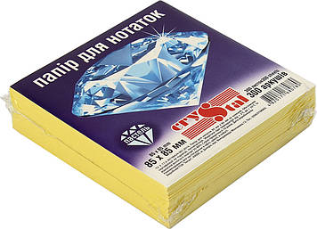"""Блок/заст. нкл 85х85мм 300арк. пастель жовтий """"Crystal"""" №0780(40)"""