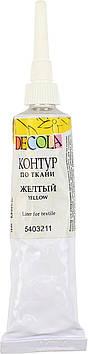 """Контур """"Decola"""" 18мл №352116 жовтий по тканині ЗХК"""