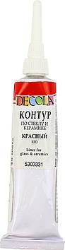 "Контур ""Decola"" 18мл №52202331/5303331/352095 черв. для скла,керам.,туба(6)"