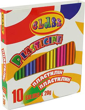"""Пластилін  10 кольор. 200гр """"Class"""" №7623(24)(100)"""