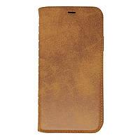 Чехол книжка Avantis Leather Folio для Apple iPhone X / XS коричневый