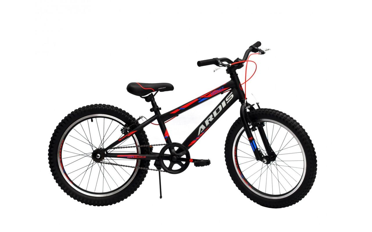 """Детский велосипед Ardis GHOST R20"""" алюминиевый (Чёрно-красный)"""
