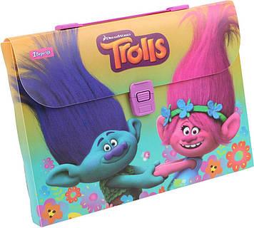 "Портфель №491308 A4 пласт. ""Trolls""(12)"