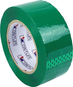"""Стрічка клейка пакув.""""Contur"""" кольор. 48ммх150мх45мкм зелен. (пиле,волого,морозостійкий)"""