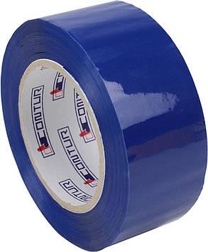 """Стрічка клейка пакув.""""Contur"""" кольор. 48ммх150мх45мкм син. (пиле,волого,морозостійкий)"""