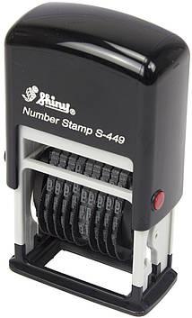 Міні-нумератор 9-и розр. 4мм пласт. Shiny №S-449