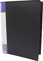 """Папка-вуса """"Economix"""" №E31201-01 A4 пласт. CLIP A 1карм. чорн.(1)(20)(120)"""