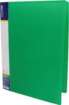 """Папка-вуса """"Economix"""" №E31201-04 A4 пласт. CLIP A 1карм. зелена(1)(20)(120)"""