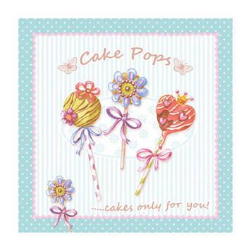 """Декупажні серветки """"Cake Pops"""" 33х33см 17,5г/м2 (20шт) ti-flair №361620/6420"""