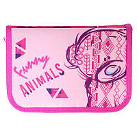 """Пенал """"Class"""" Funny Animals з 1 відворотом,210/230D PL №99103"""