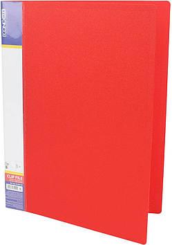 """Папка """"Economix"""" №E31202-03 A4 CLIP B з притиск. червона(1)(20)"""