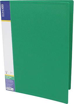 """Папка """"Economix"""" №E31202-04 A4 CLIP B з притиск. зелена(1)(20)"""