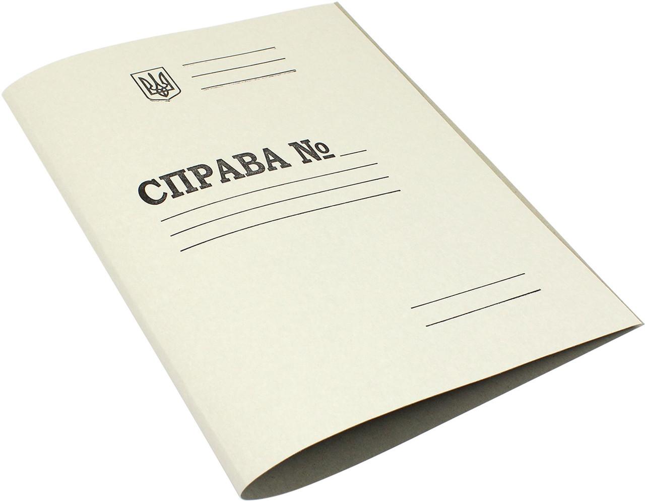 """Папка """"Справа"""" A4 картон. №DK001(тризуб)(200)"""