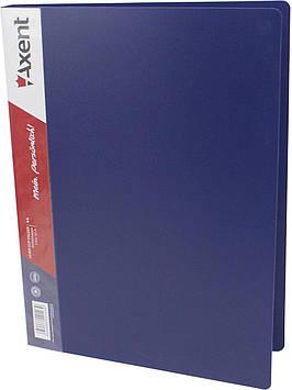 "Папка ""Axent"" №1301-02 A4 з затиск. синя(1)(10)"