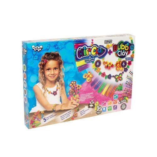 """Набір креативної творчості """"Air Clay + Bubble Clay"""" №ARBB-01-01U,02U (укр) /DankoToys/(10)"""