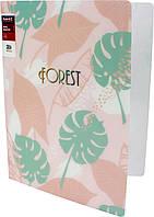 "Папка ""Axent"" №1203-10-A A4 ""Forest"" на 2кільця (рожева)"