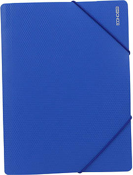 "Папка ""Economix"" №E31601-02 A4 для докум. пласт. на рез. синя(1)(20)"