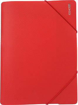 """Папка """"Economix"""" №E31601-03 A4 для докум. пласт. на рез. червона(1)(24)"""