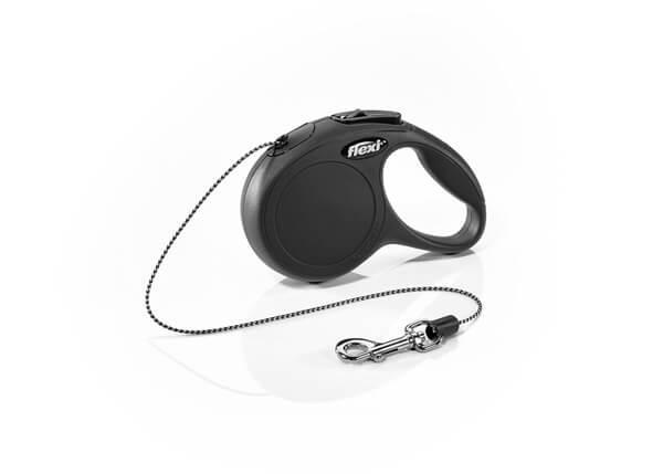 Рулетка FLEXI Classic XS, 3м, до 8кг, шнур, черная (2429)